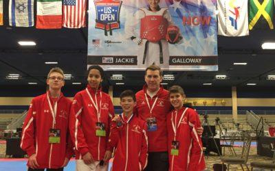 Oh Jang Taekwondo rivalise et remporte le Bronze à Las Vegas.